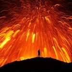 volcans-islande avec homme