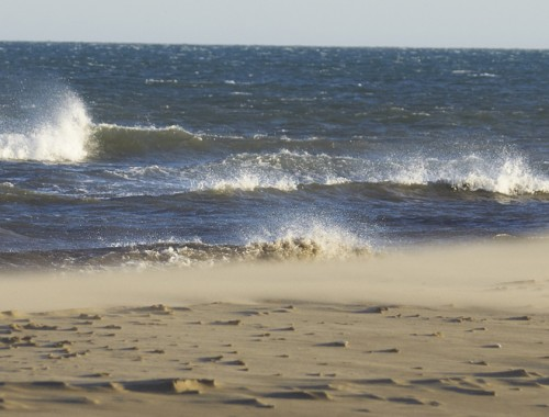 vent sur les vagues